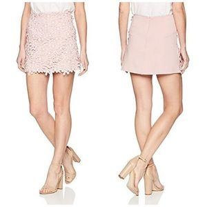 French Connection Fulaga Floral Lace Overlay Skirt